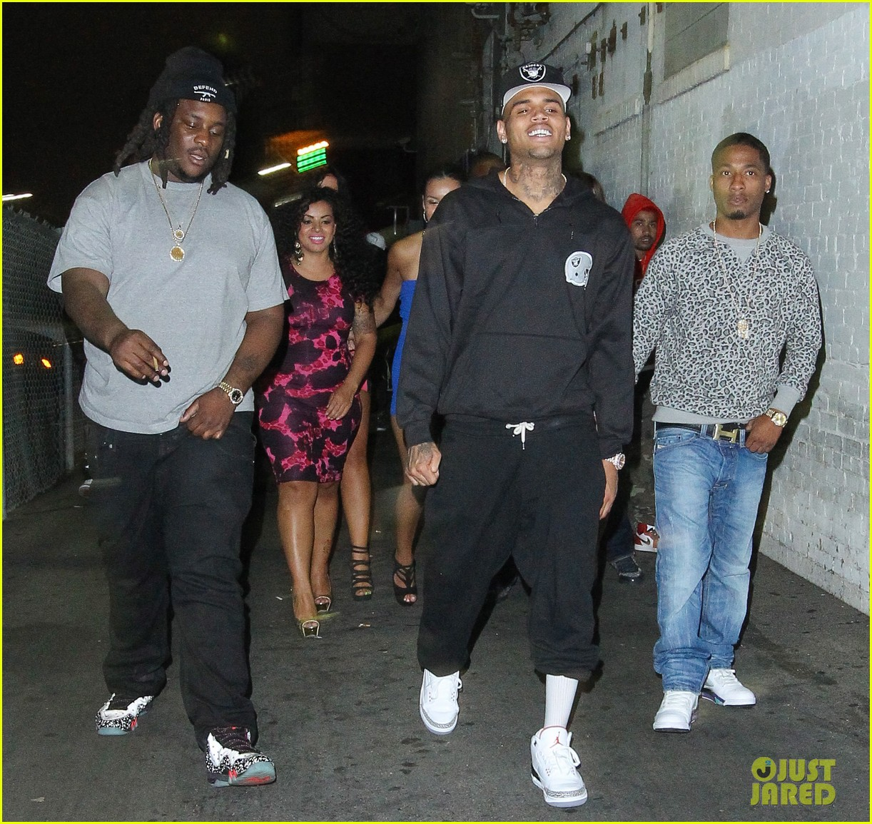chris brown night out following love more video shoot 082923380