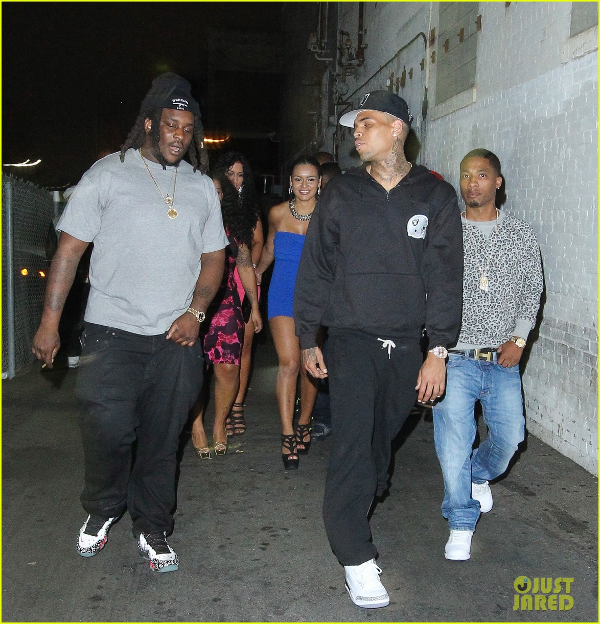 chris brown night out following love more video shoot 10