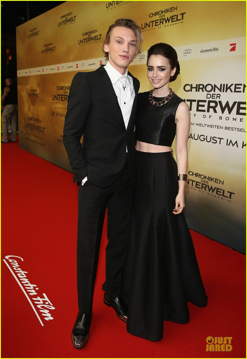 lily collins jamie campbell bower city of bones berlin premiere 052934355