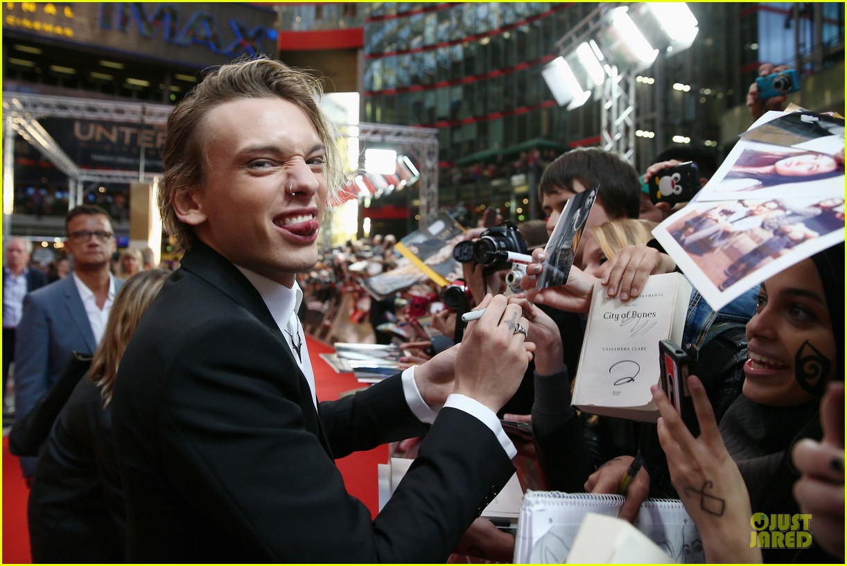 lily collins jamie campbell bower city of bones berlin premiere 222934372
