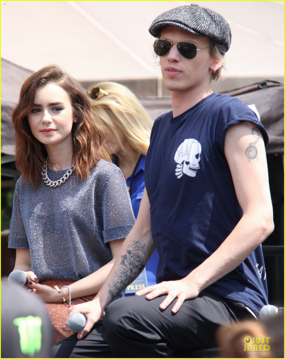 lily collins jamie campbell bower bower are very close despite split 152929801