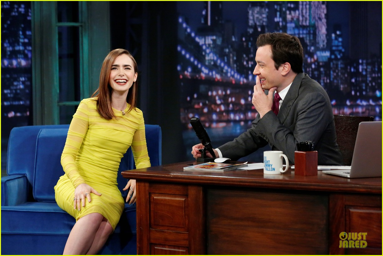 lily collins city of bones chat on fallon 042924541