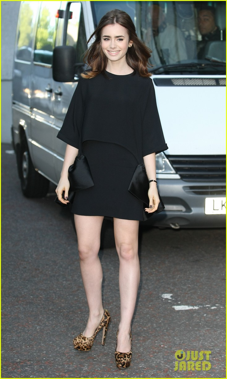 lily collins jamie campbell bower itv studios visit 092933201