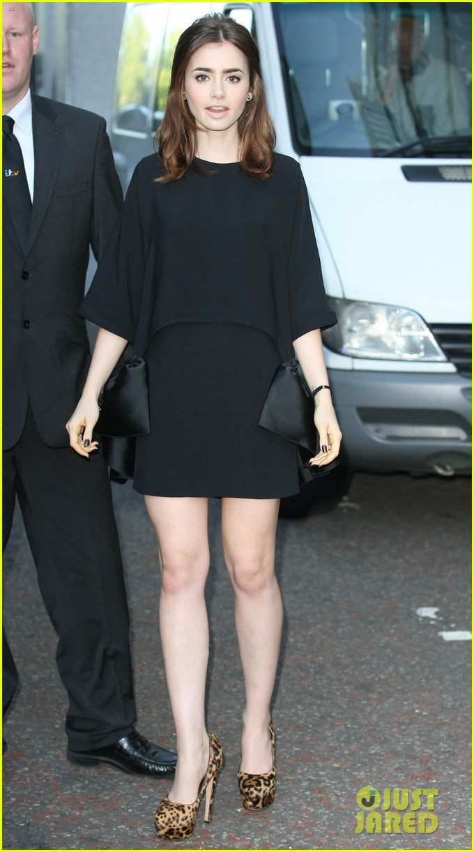 lily collins jamie campbell bower itv studios visit 142933206
