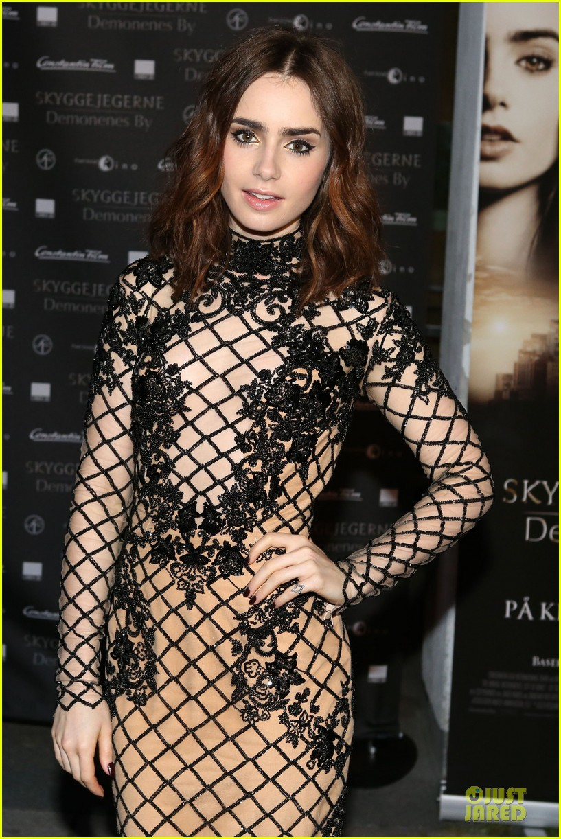 lily collins jonathan rhys meyers city of bones norway premiere 162936674