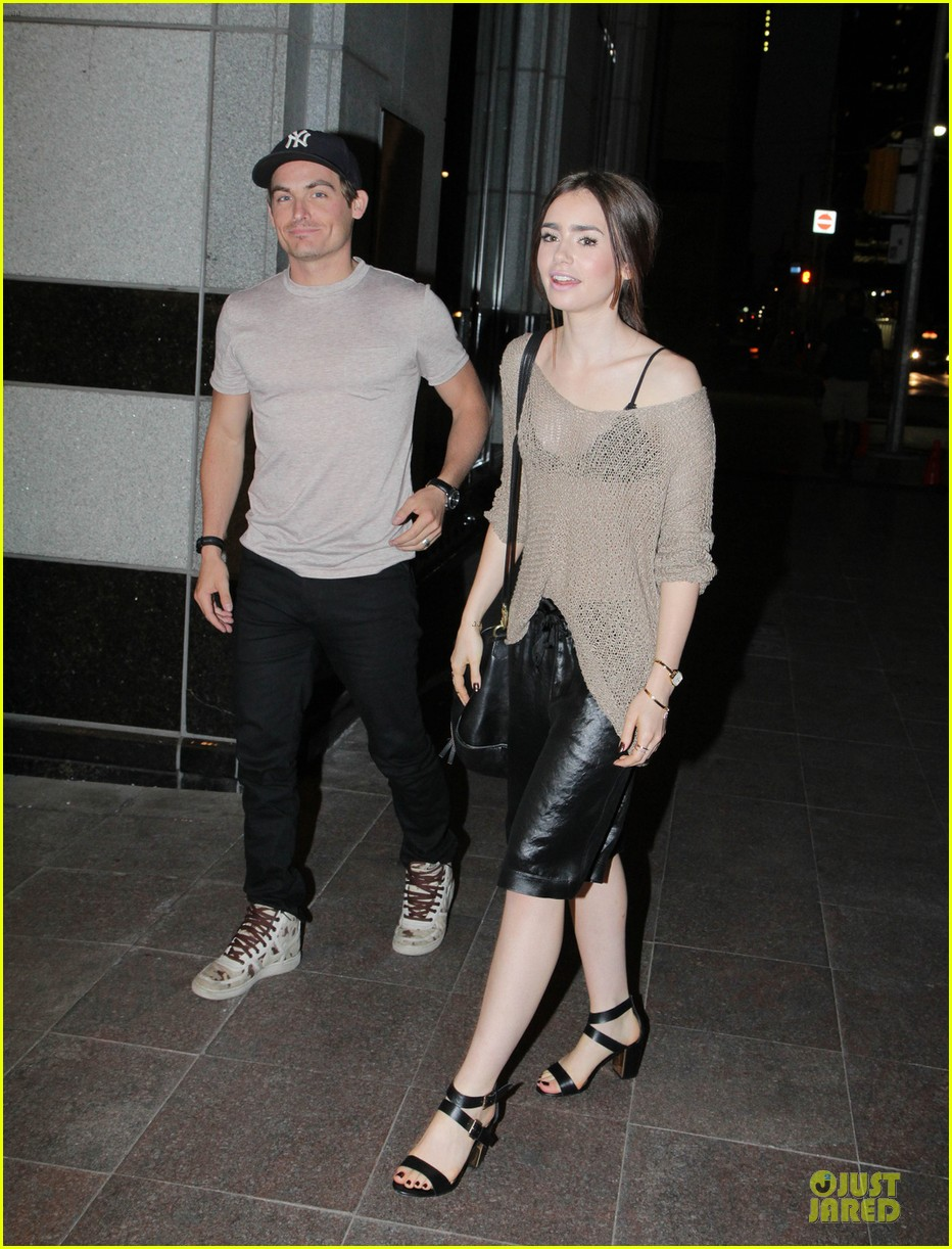 lily collins sheer diner with kevin zegers jaime feld 012931943