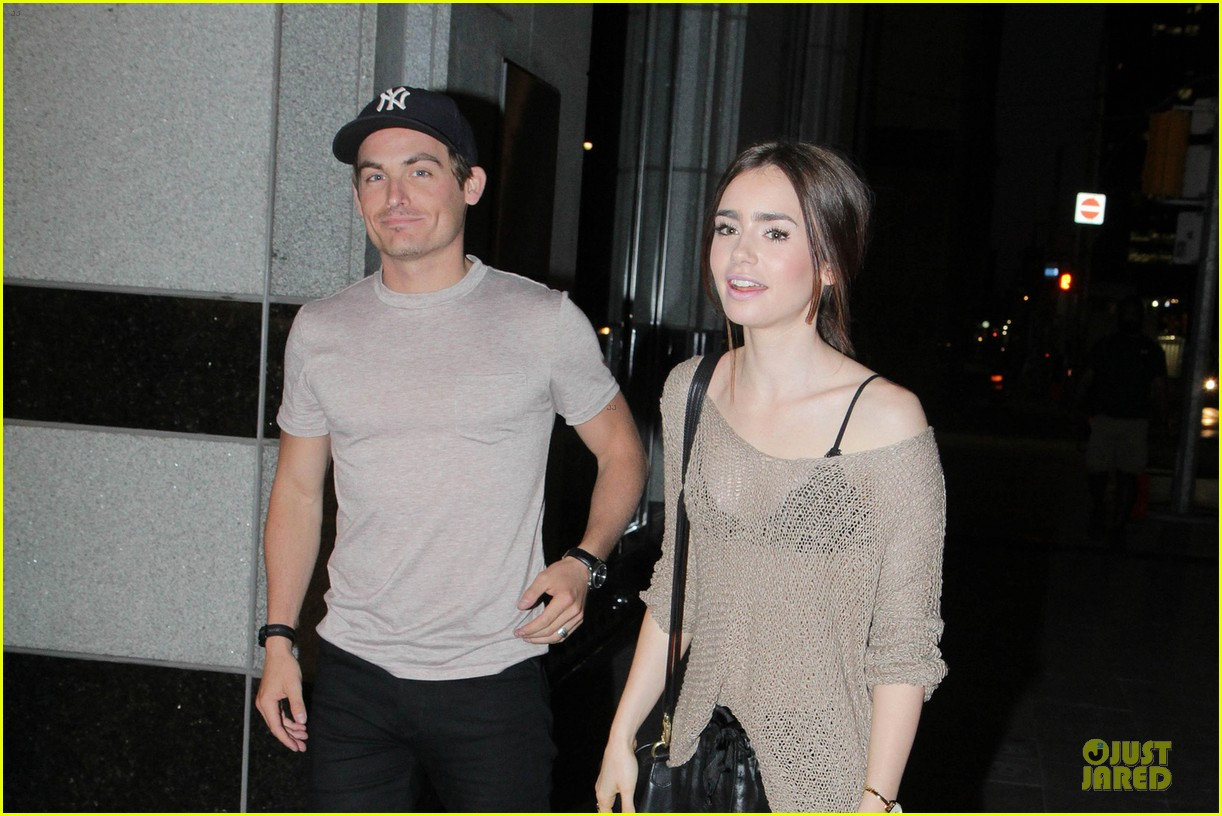 lily collins sheer diner with kevin zegers jaime feld 02