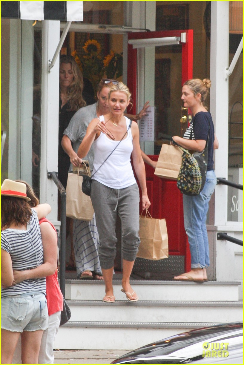 cameron diaz shows toned arms for friends gathering 032936413