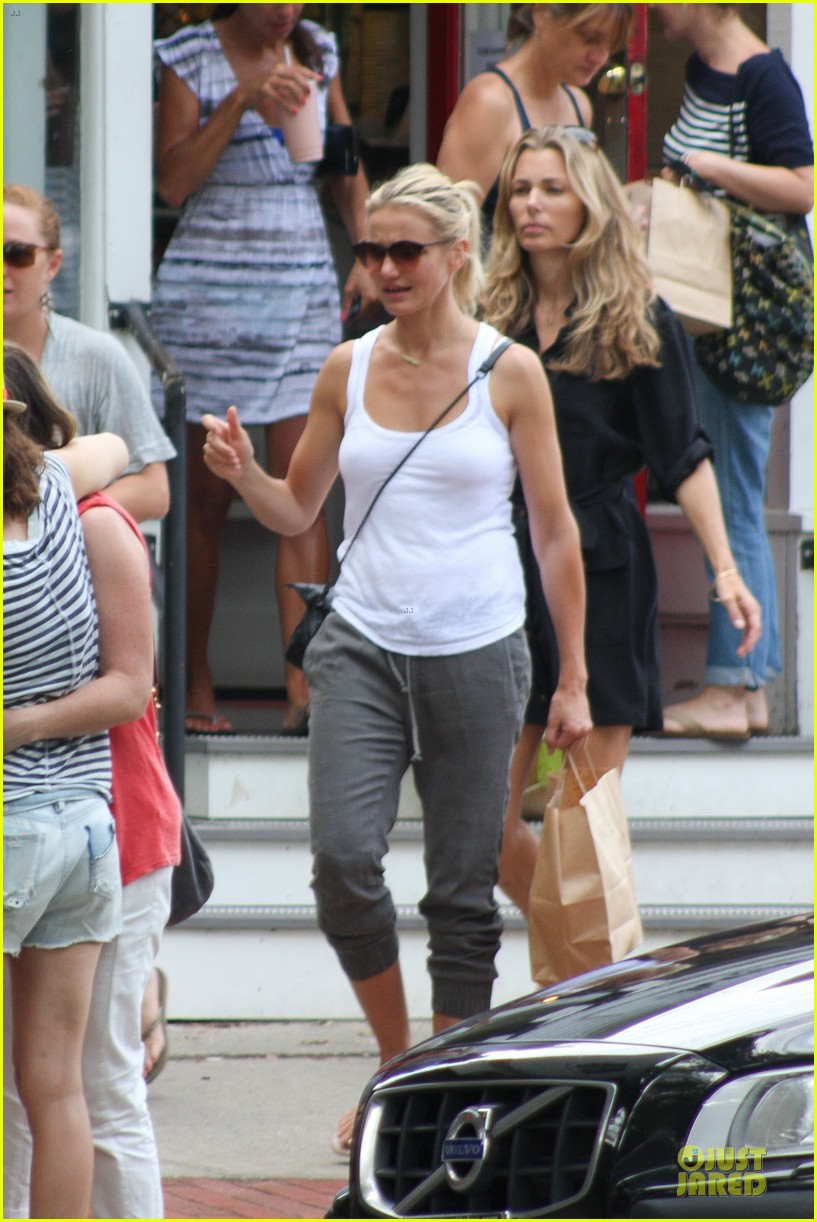 cameron diaz shows toned arms for friends gathering 042936414
