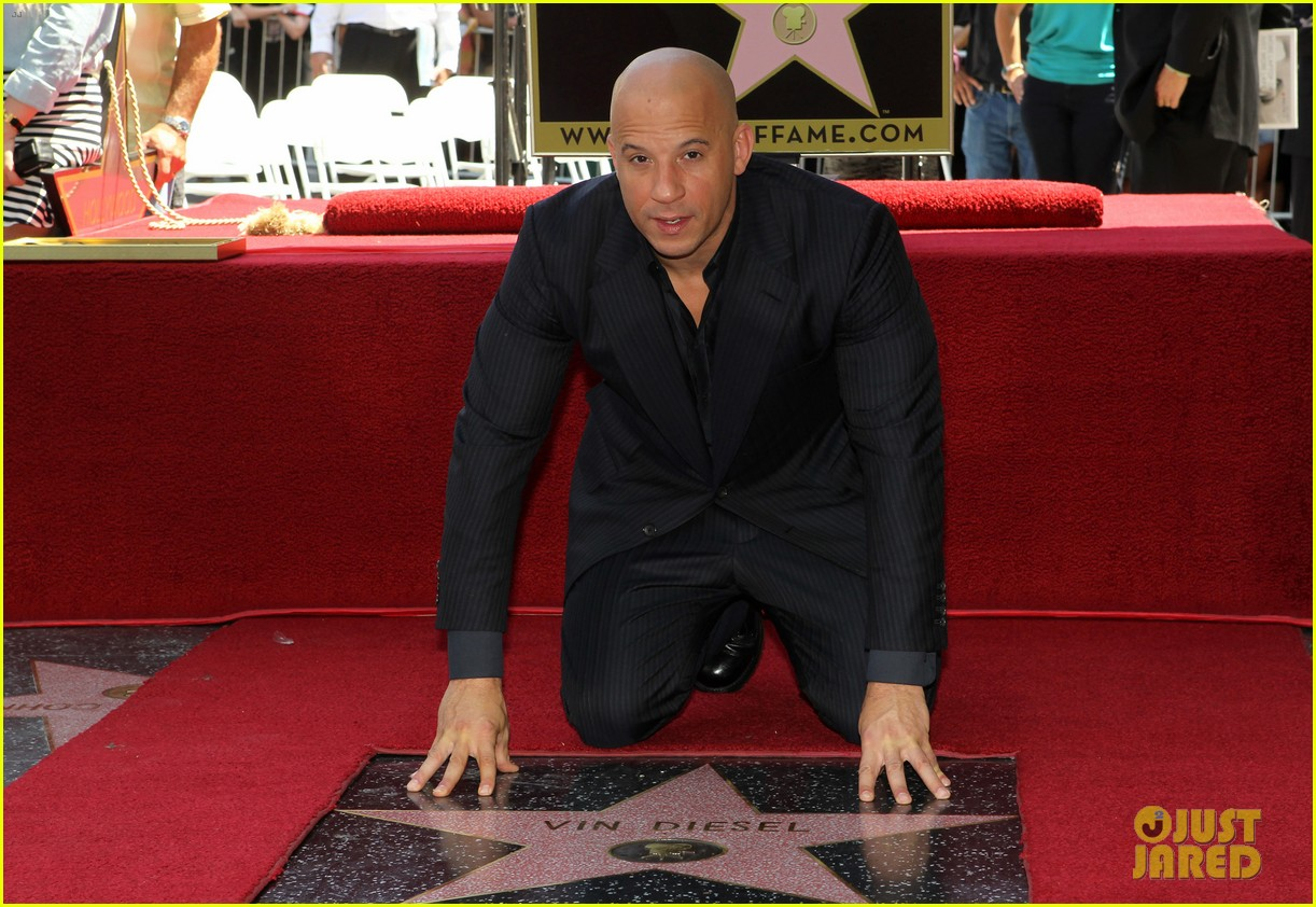 vin diesel hollywood walk of fame with his leading ladies 132938399
