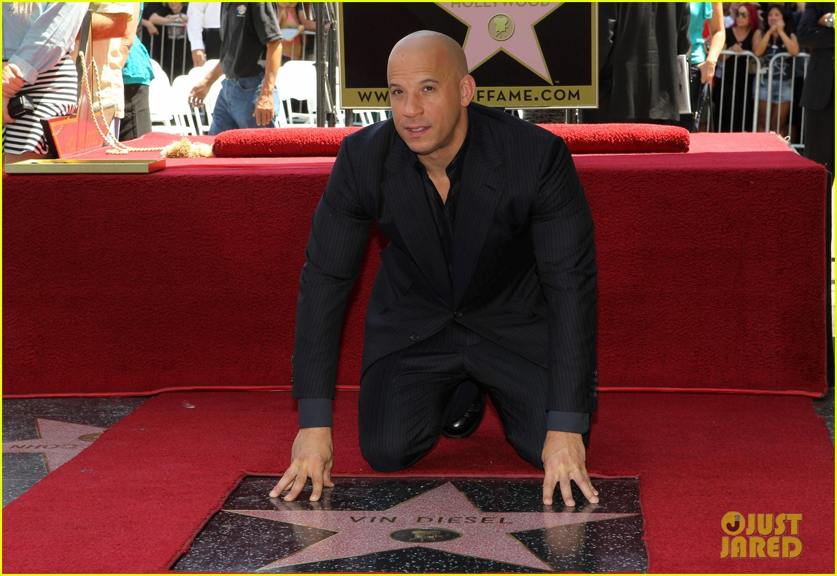 vin diesel hollywood walk of fame with his leading ladies 142938400