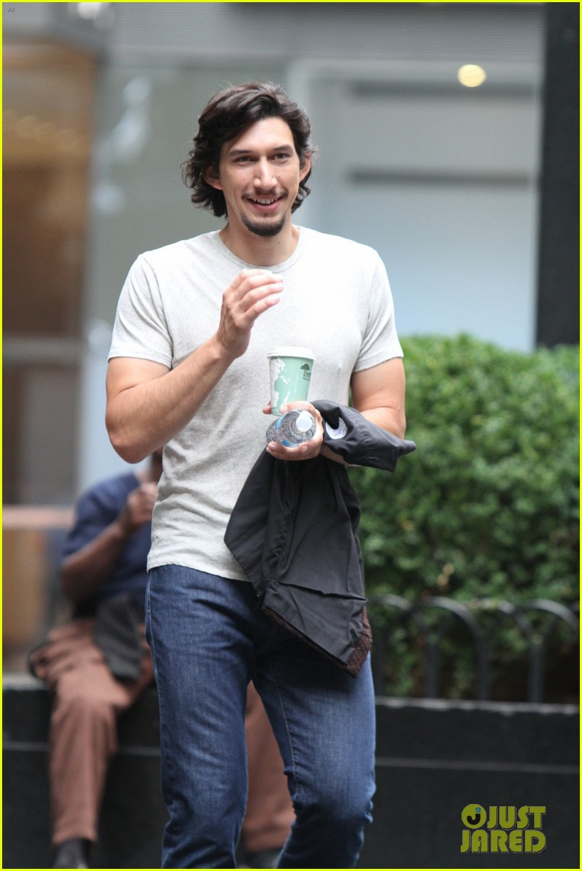 lena dunham girls set fun with adam driver 022940563