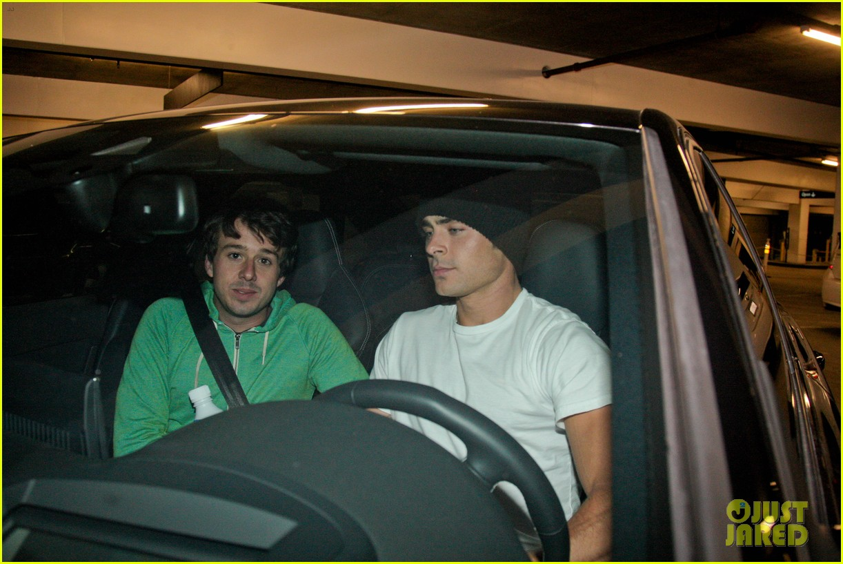 zac efron goes to the movies with a friend 152923987