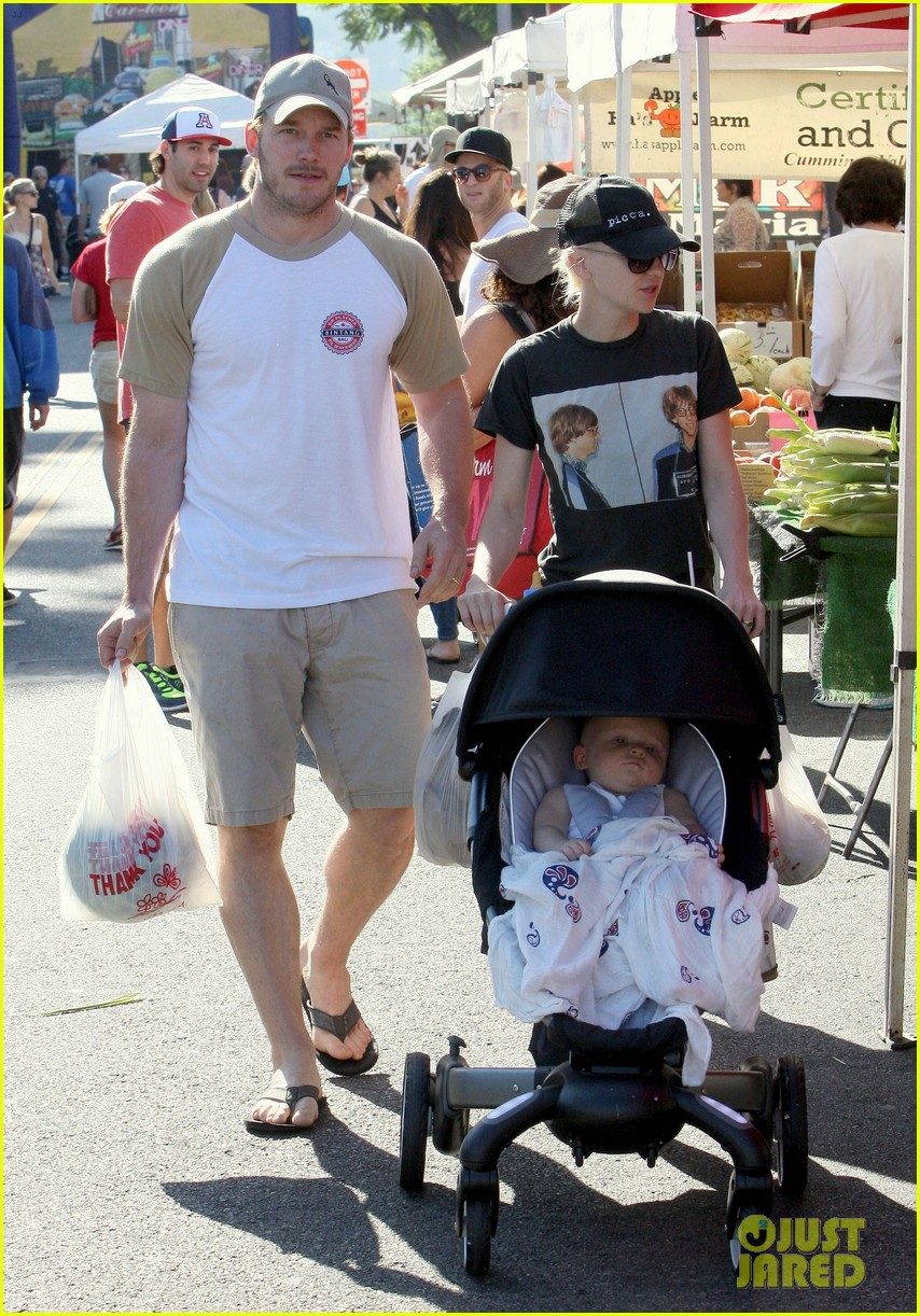 anna faris chris pratt celebrate son jack first birthday 052938421