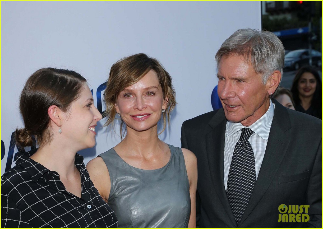 harrison ford paranoia premiere with calista flockhart 112926431