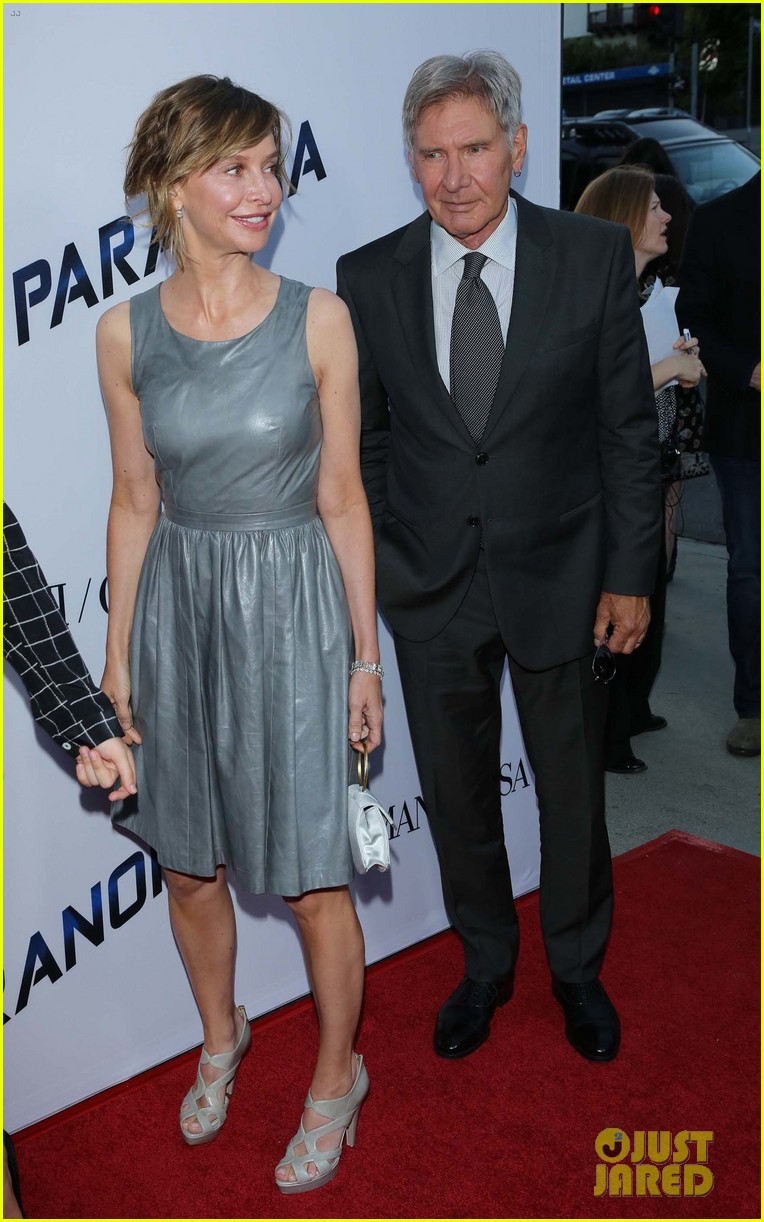 harrison ford paranoia premiere with calista flockhart 122926432