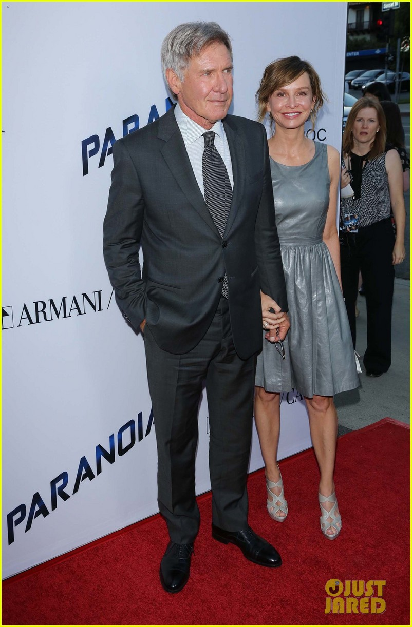 harrison ford paranoia premiere with calista flockhart 132926433