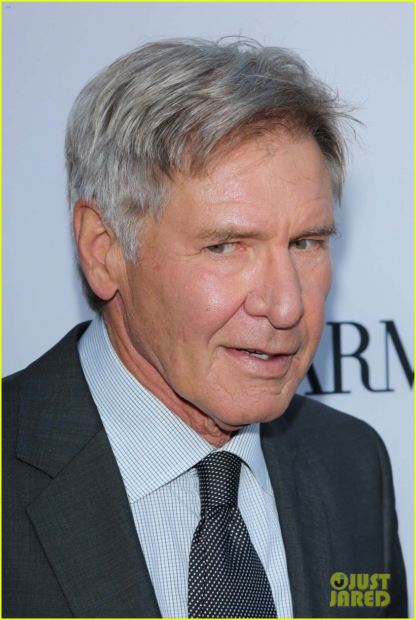 harrison ford paranoia premiere with calista flockhart 142926434