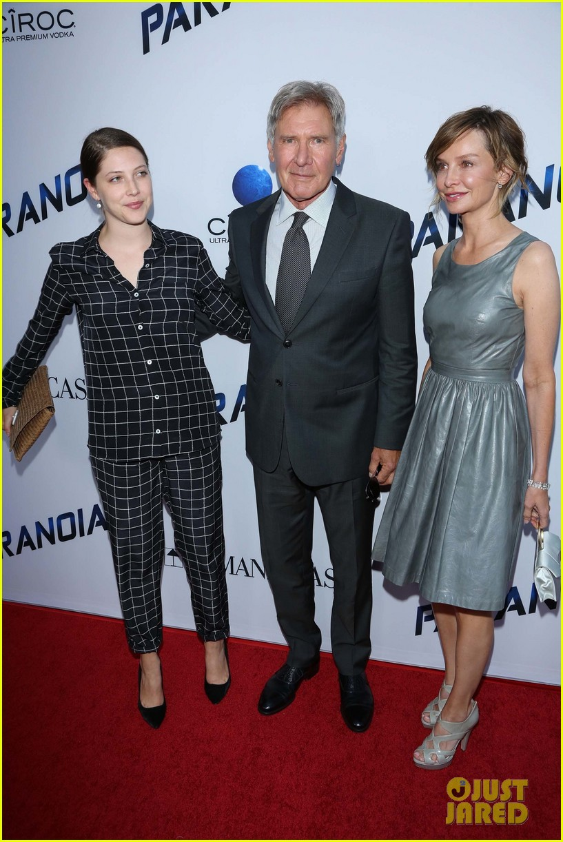 harrison ford paranoia premiere with calista flockhart 152926435