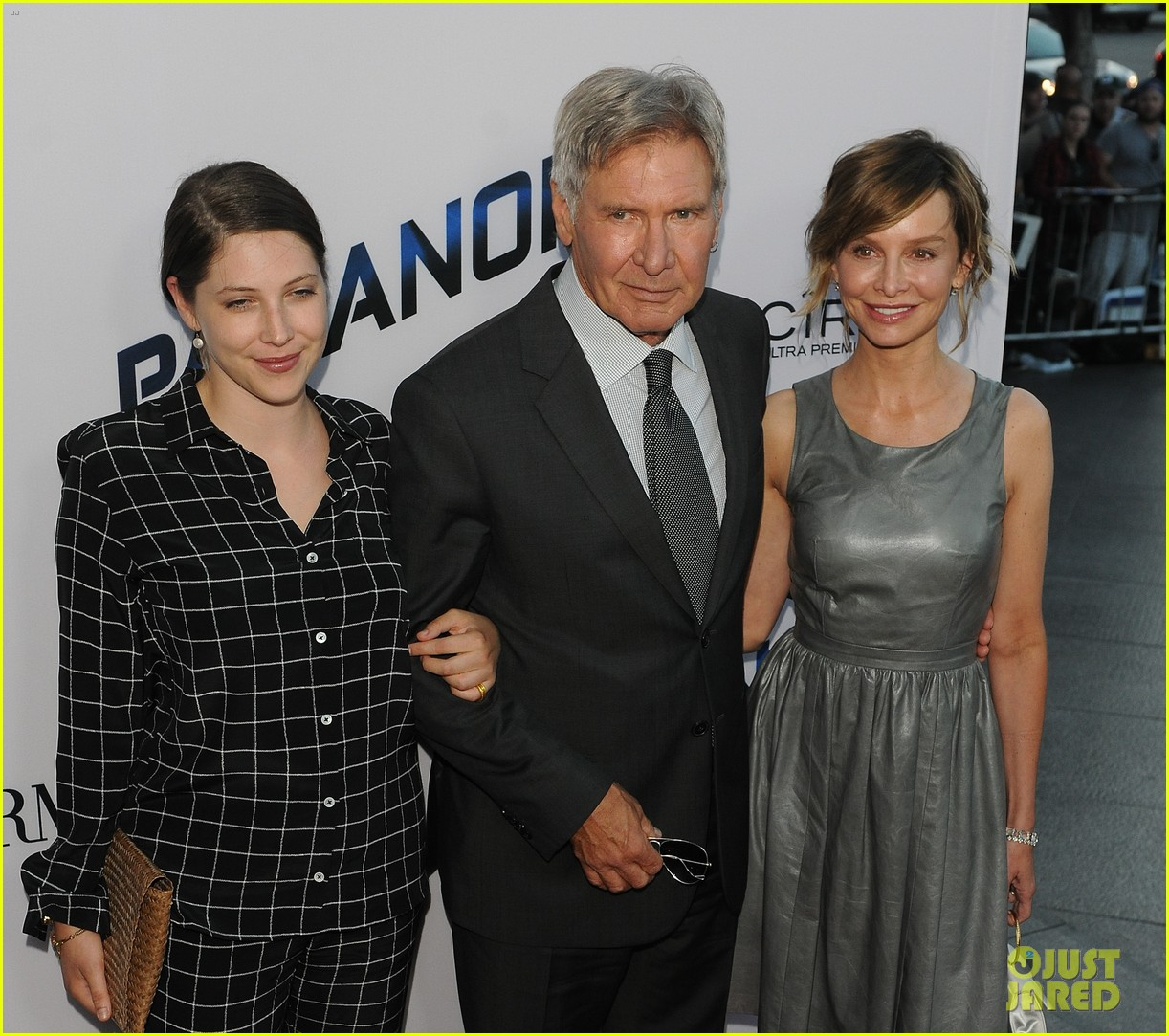 harrison ford paranoia premiere with calista flockhart 212926441