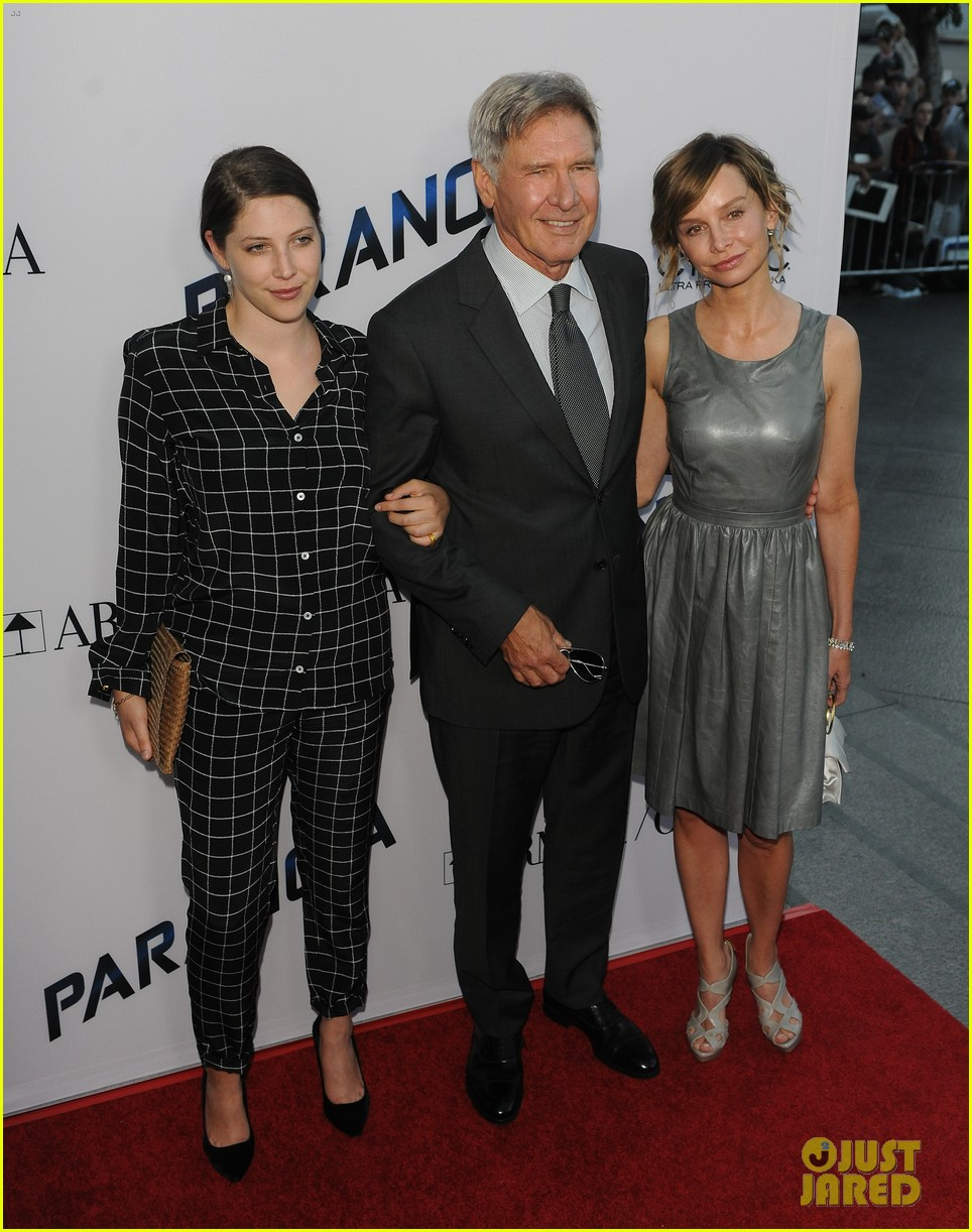 harrison ford paranoia premiere with calista flockhart 222926442