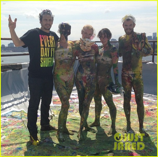 james franco plays with paint in new york city 032925781