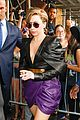 lady gaga visits z100 studios after applause premiere 02