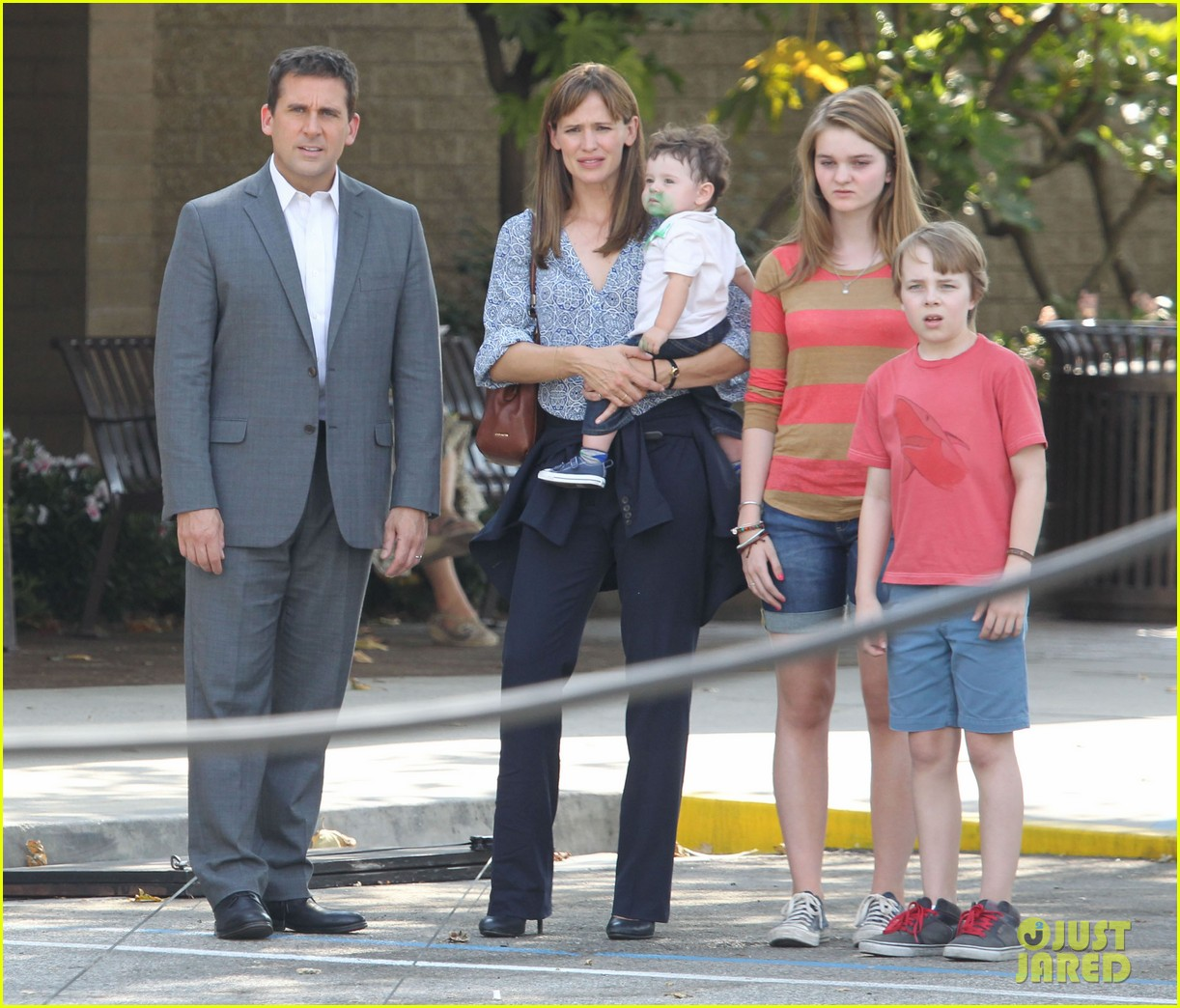 jennifer garner steve carell family freakout for alexander 012938739