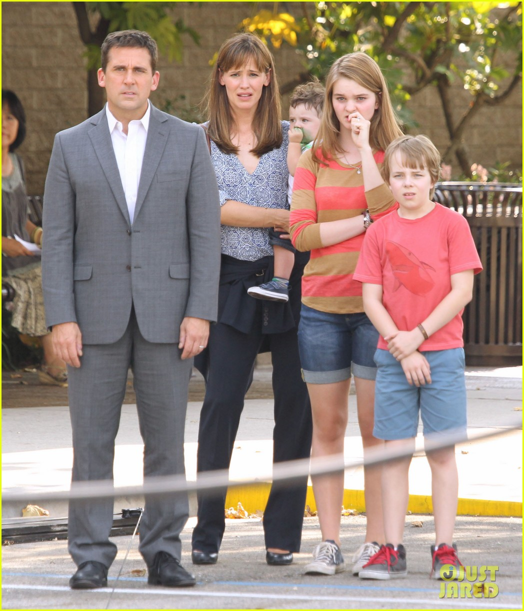 jennifer garner steve carell family freakout for alexander 192938757