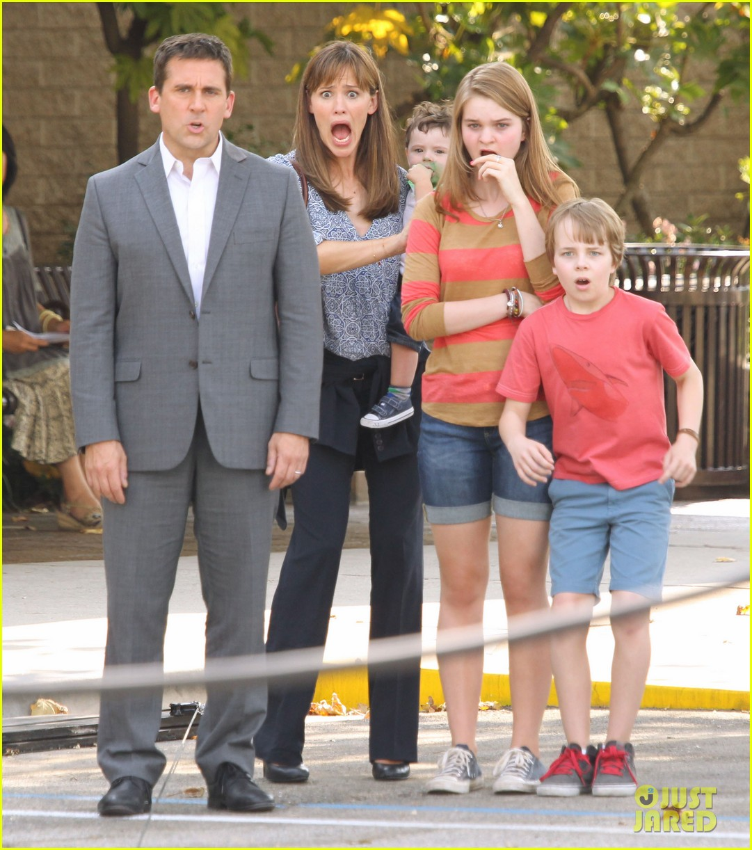 jennifer garner steve carell family freakout for alexander 20