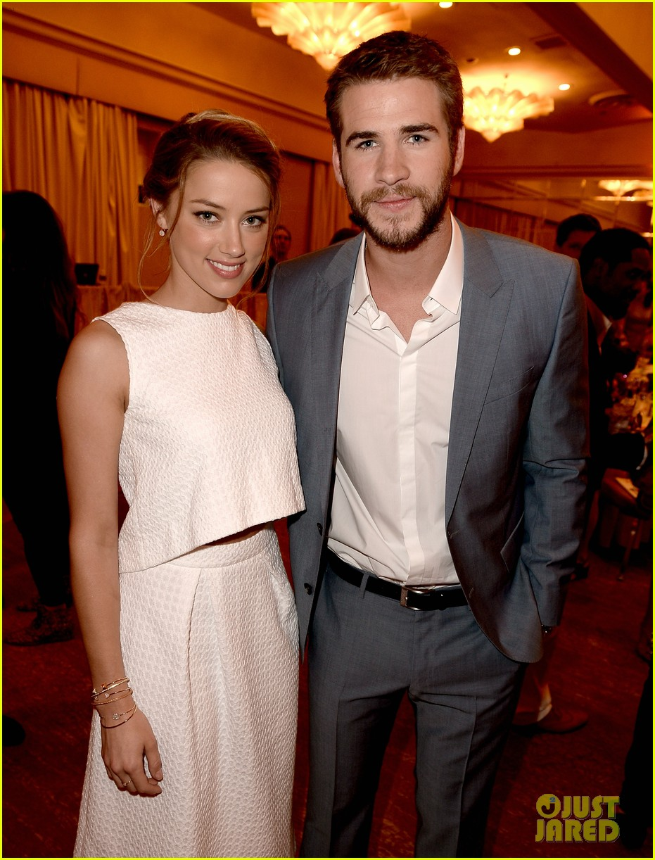 amber heard liam hemsworth hfpa installation luncheon 2013 022929510