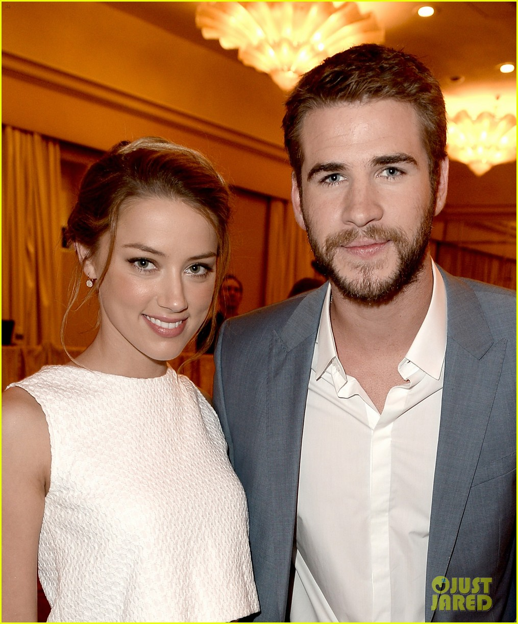 amber heard liam hemsworth hfpa installation luncheon 2013 08