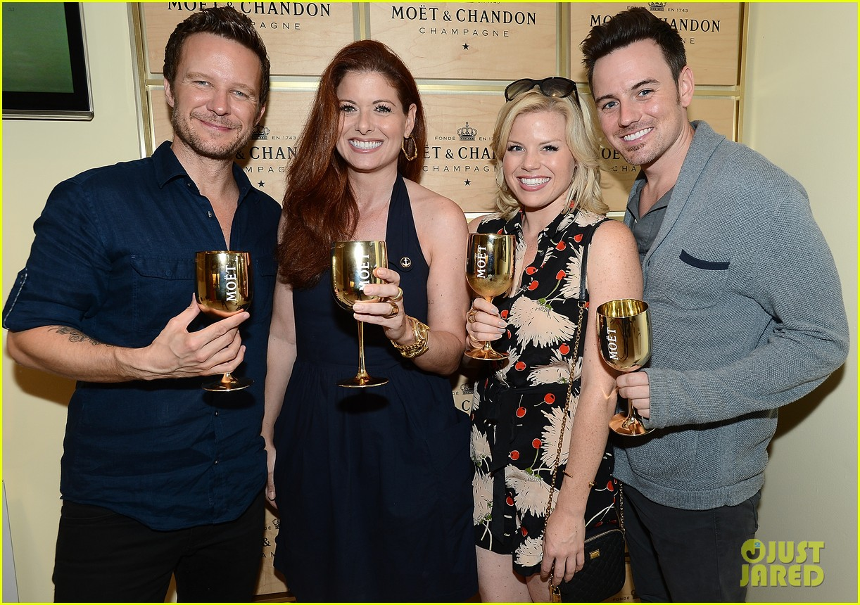 megan hilty debra messing smash reunion at us open 062941036