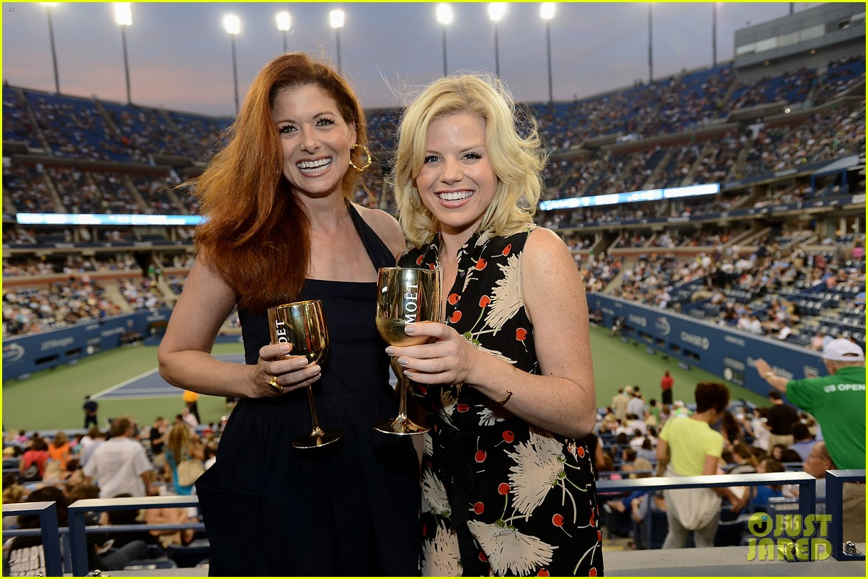 megan hilty debra messing smash reunion at us open 102941040