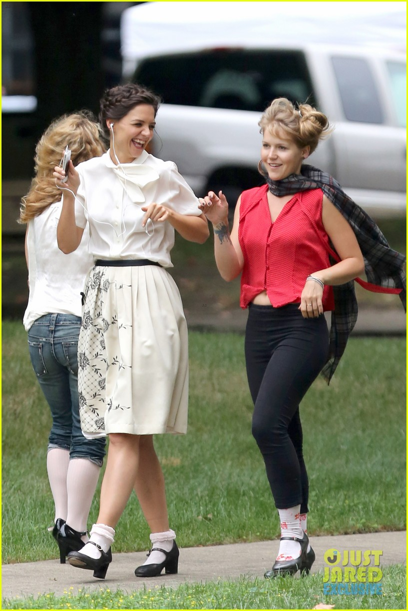 katie holmes dances along to songs on miss meadows set 09