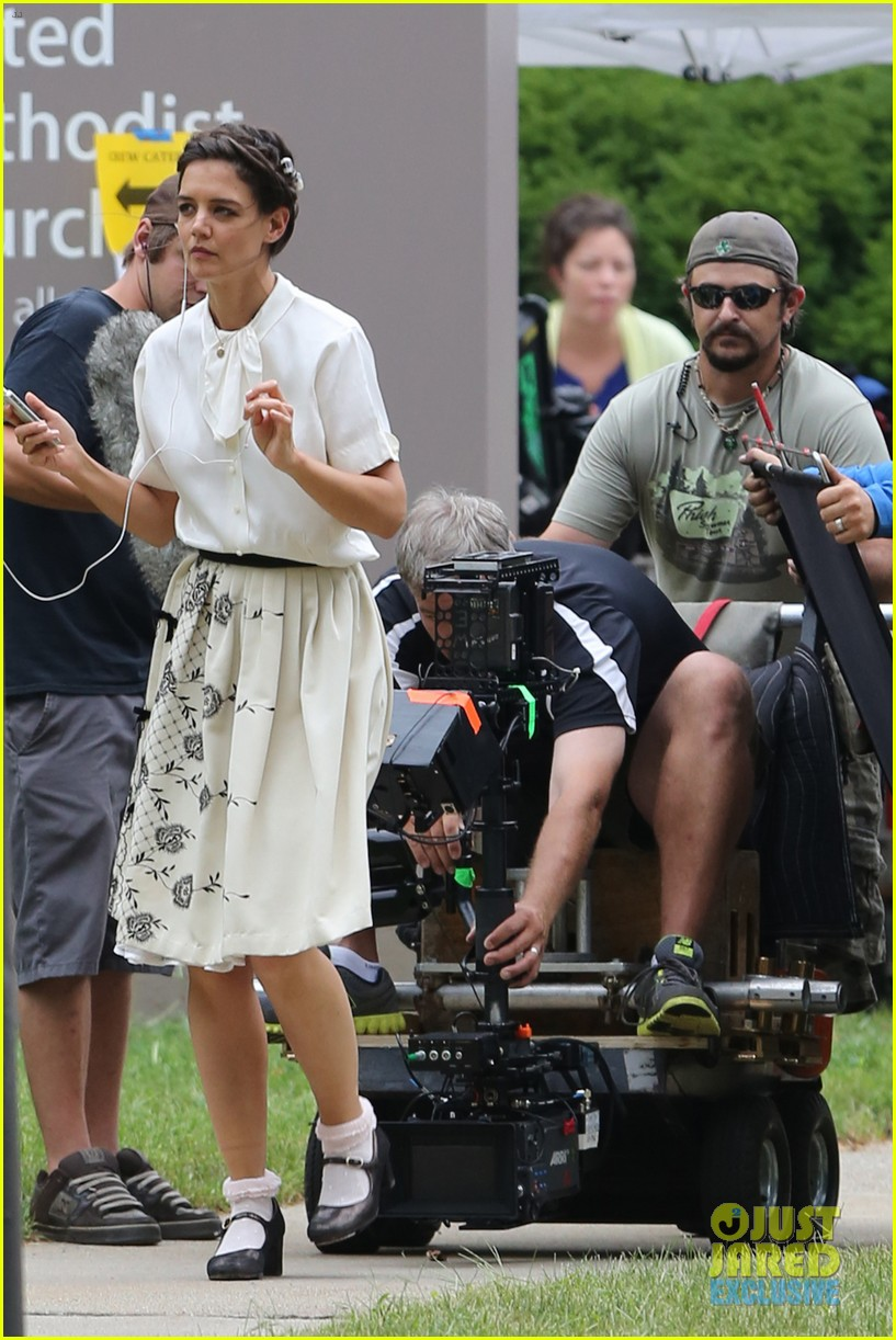 katie holmes dances along to songs on miss meadows set 142939808