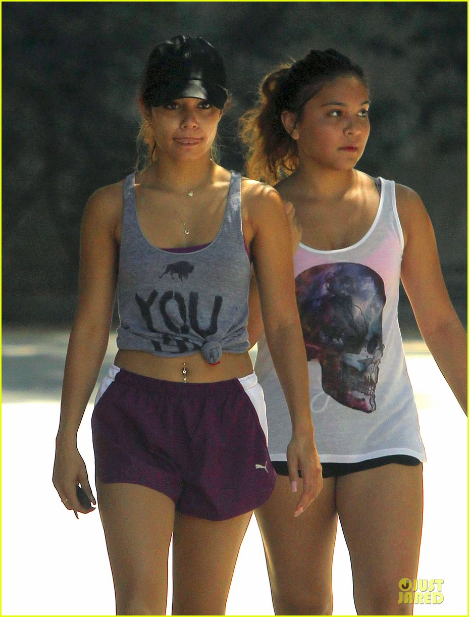 vanessa hudgens shows pierced belly button for hike 042934290