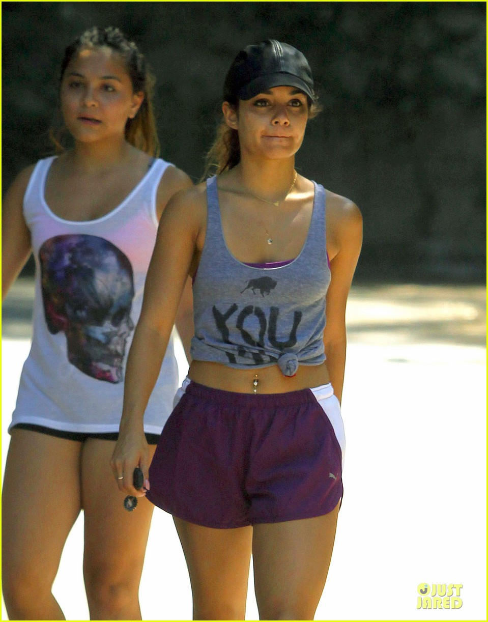 vanessa hudgens shows pierced belly button for hike 172934303
