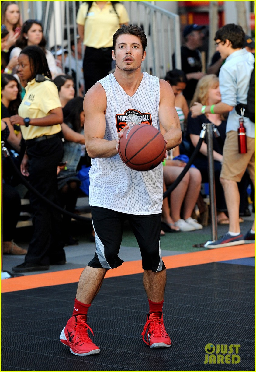 josh hutcherson james lafferty sbnn basketball game 052927169