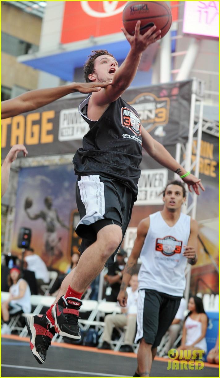 josh hutcherson james lafferty sbnn basketball game 072927171