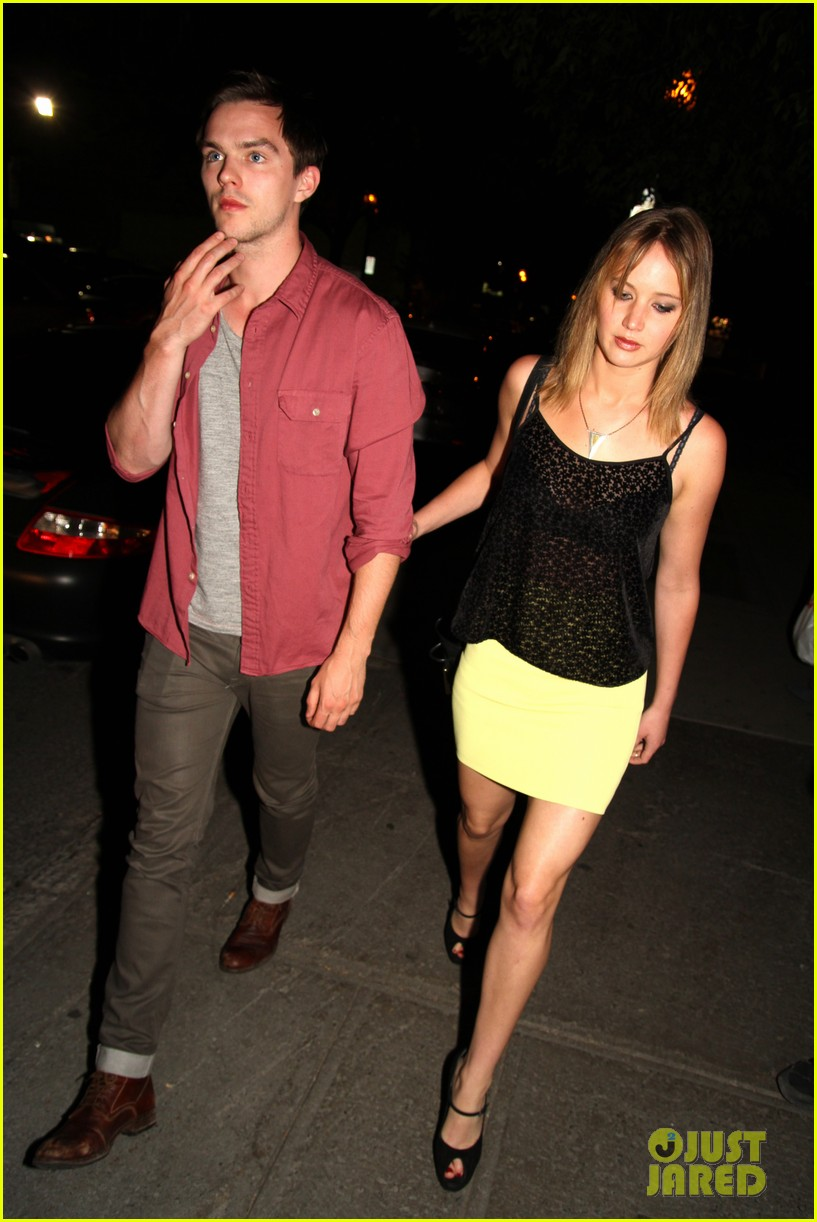 jennifer lawrence nicholas hoult arm in arm x men wrap party 032932981