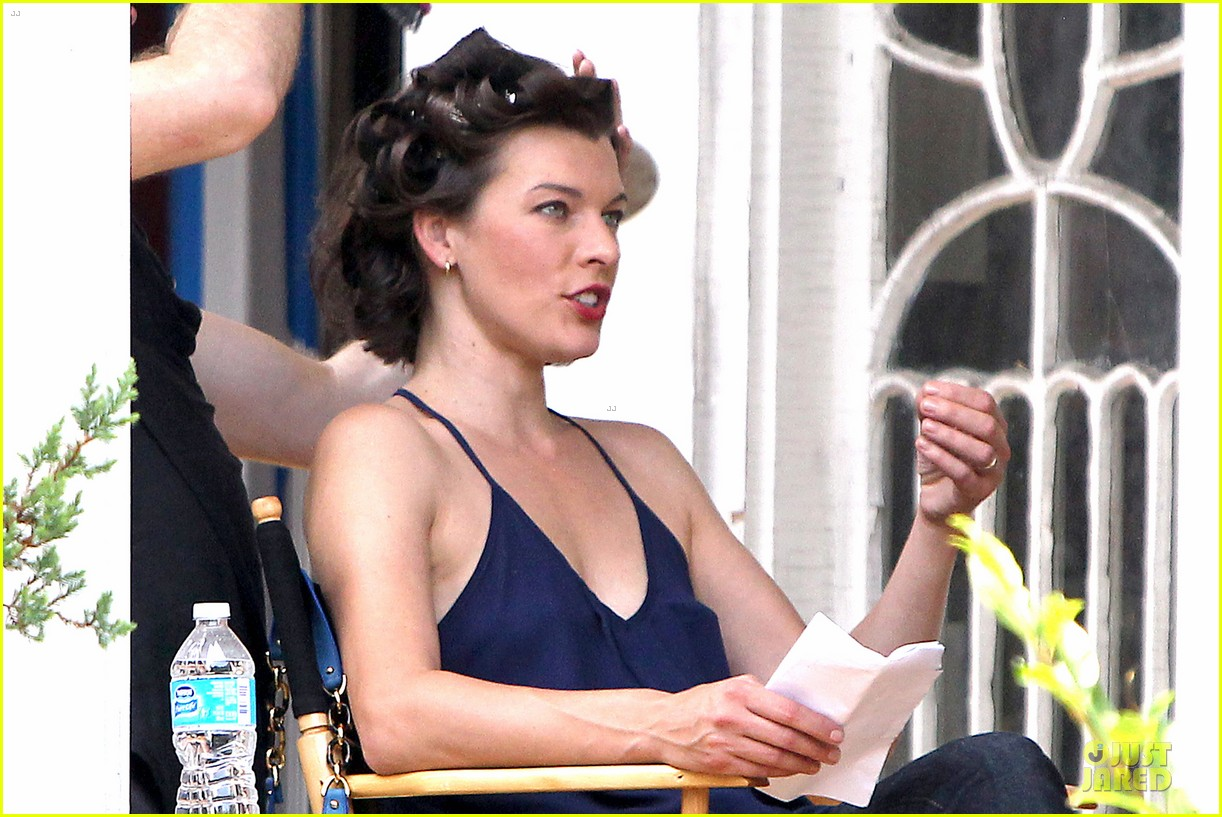 milla jovovich sports bra revealing sheer top 222938514