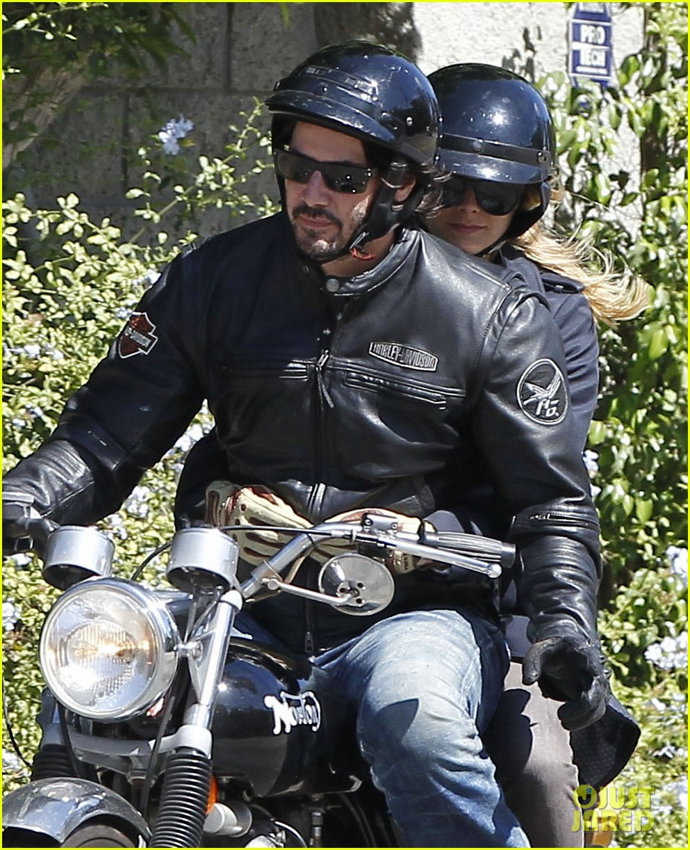 keanu reeves motorcycle ride with mystery blonde 022923307