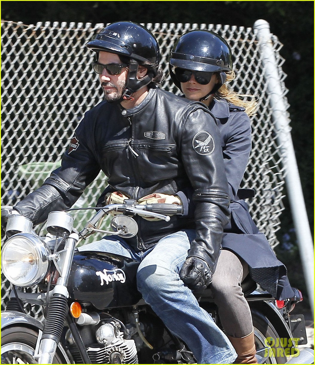 keanu reeves motorcycle ride with mystery blonde 042923309
