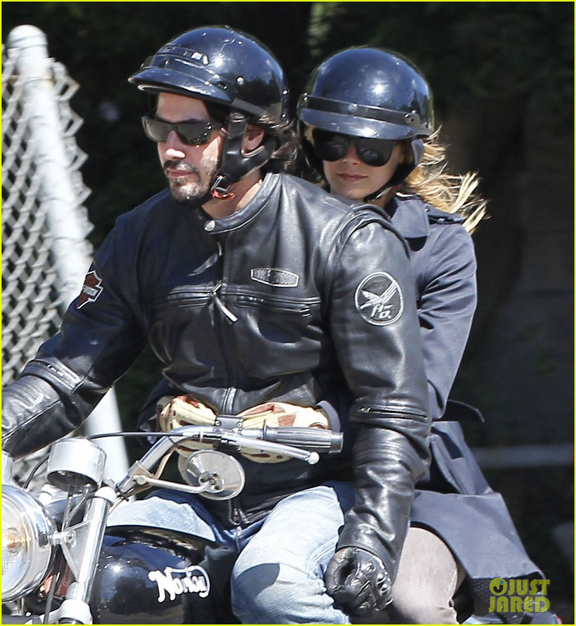 keanu reeves motorcycle ride with mystery blonde 062923311