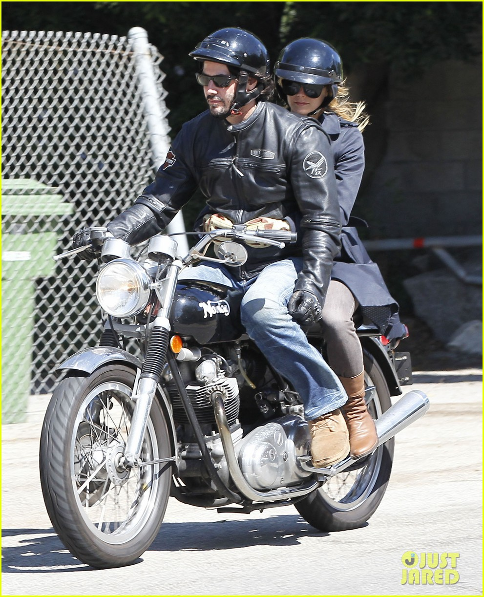 keanu reeves motorcycle ride with mystery blonde 092923314