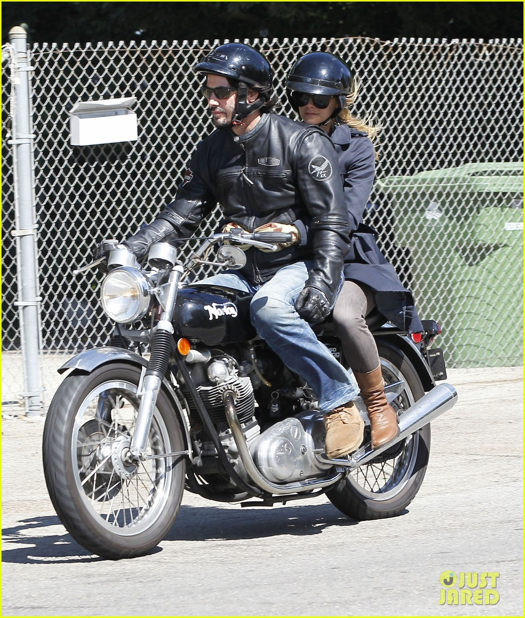 keanu reeves motorcycle ride with mystery blonde 102923315