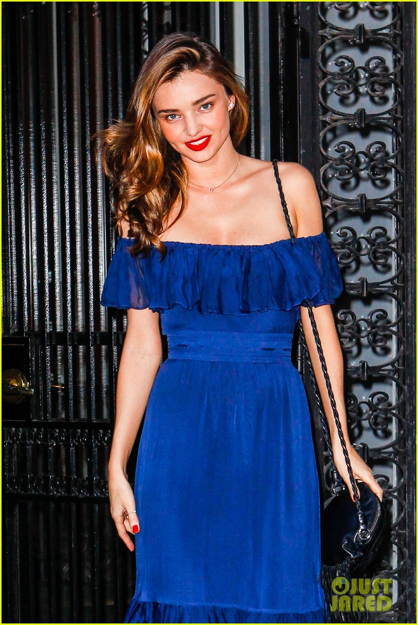 miranda kerr blue bombshell in new york city 082937027