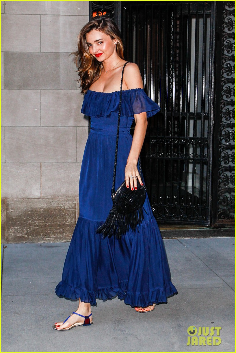 miranda kerr blue bombshell in new york city 12