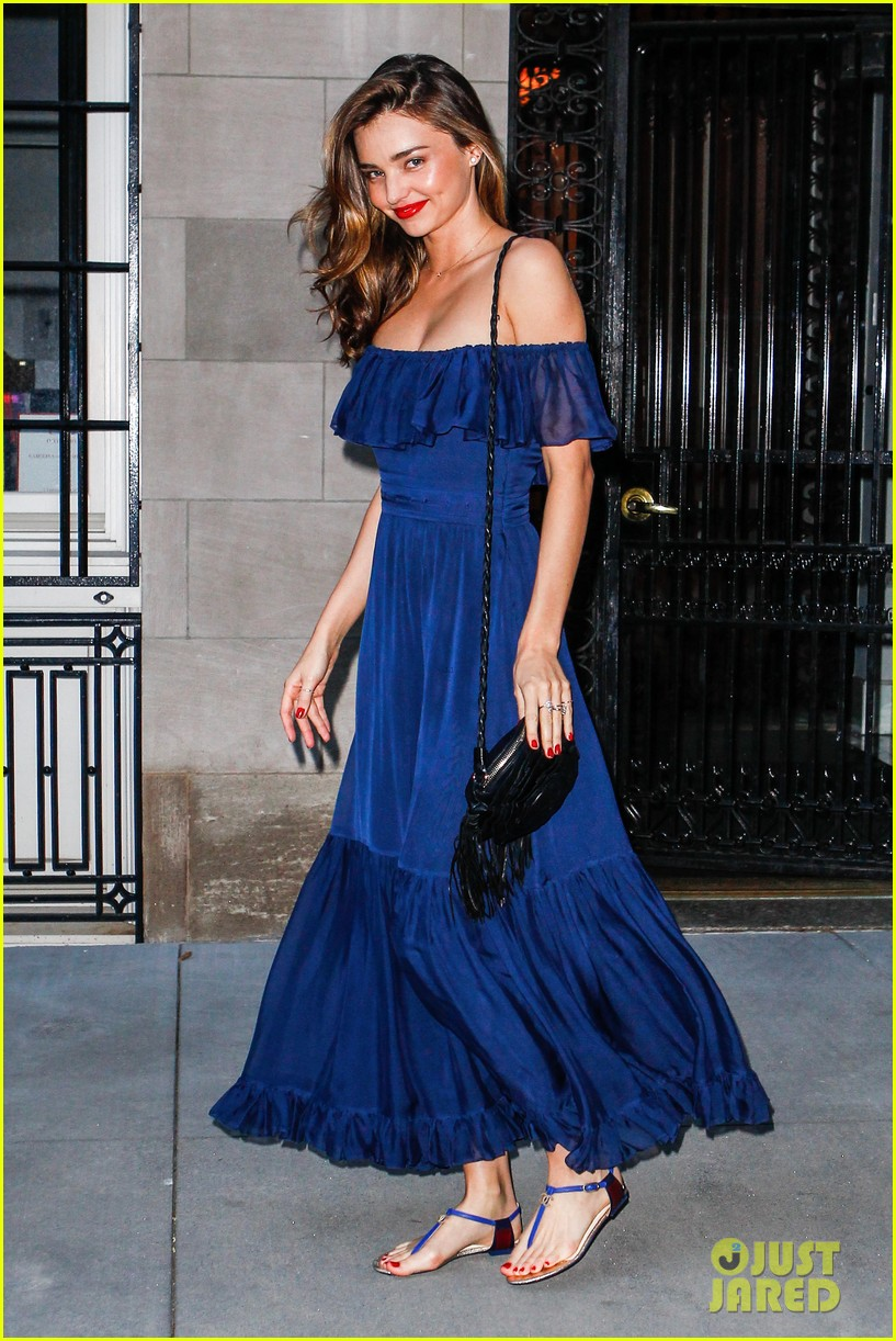 miranda kerr blue bombshell in new york city 132937032